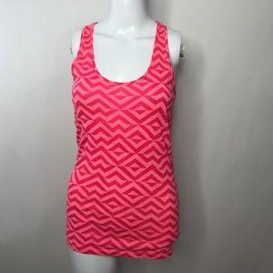 Pink Victoria's Secret Geometric print Tank Small